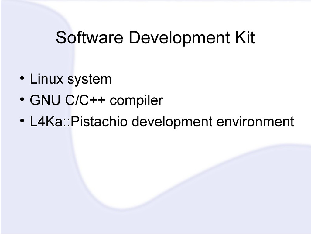 Software Development Kit  Linux system  GNU C...