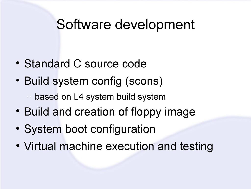 Software development  Standard C source code ...