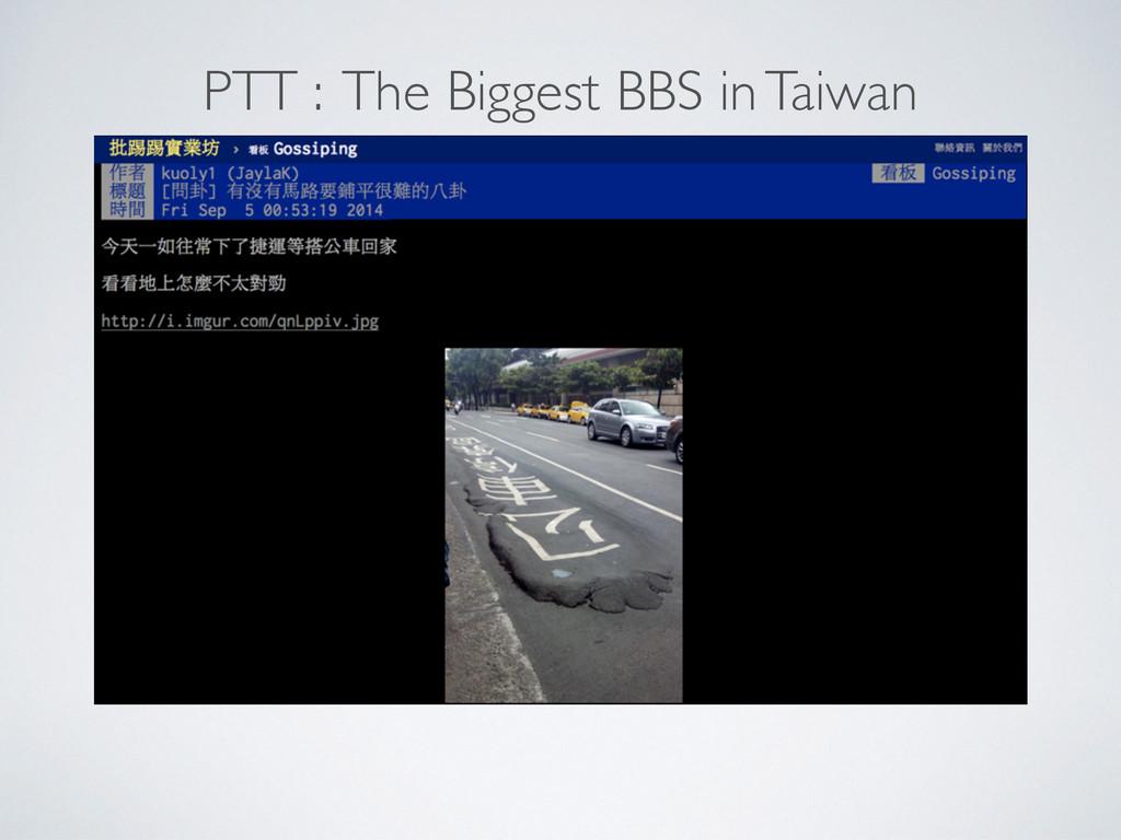 PTT : The Biggest BBS in Taiwan