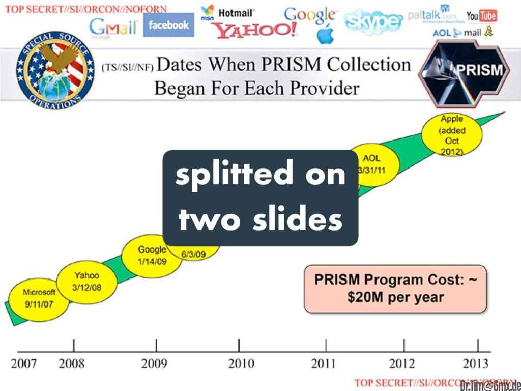 splitted on two slides e Dr.Tim@Gmx.de