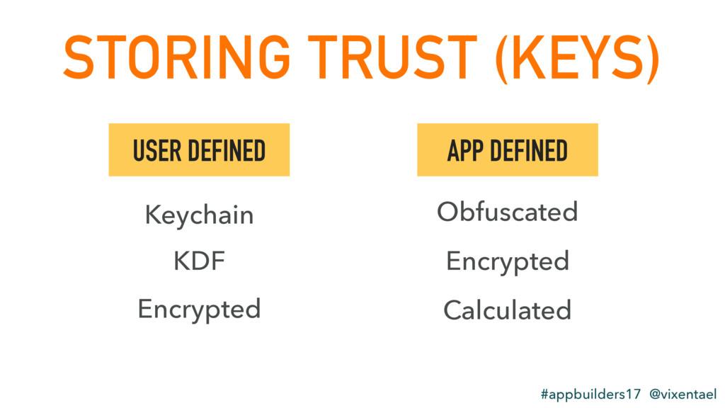 STORING TRUST (KEYS) #appbuilders17 @vixentael ...