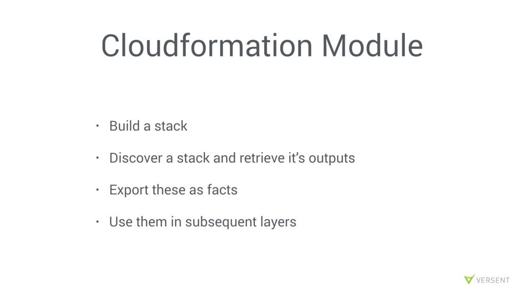 Cloudformation Module • Build a stack • Discove...