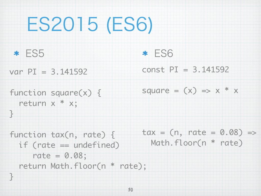 30 &4 &4  var PI = 3.141592 function squa...