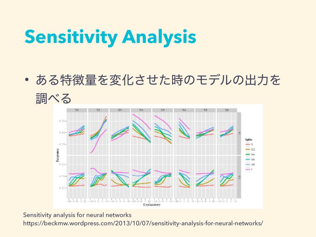 Sensitivity Analysis • ͋ΔಛྔΛมԽͤͨ͞ͷϞσϧͷग़ྗΛ ௐΔ...