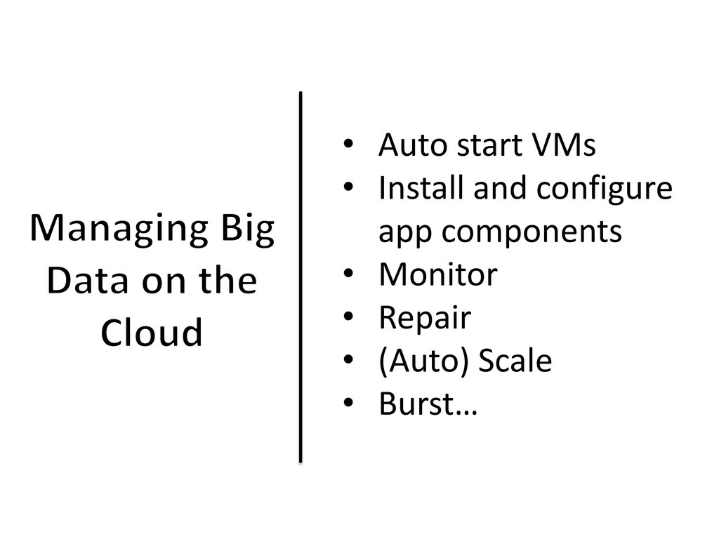 • Auto start VMs • Install and configure app co...