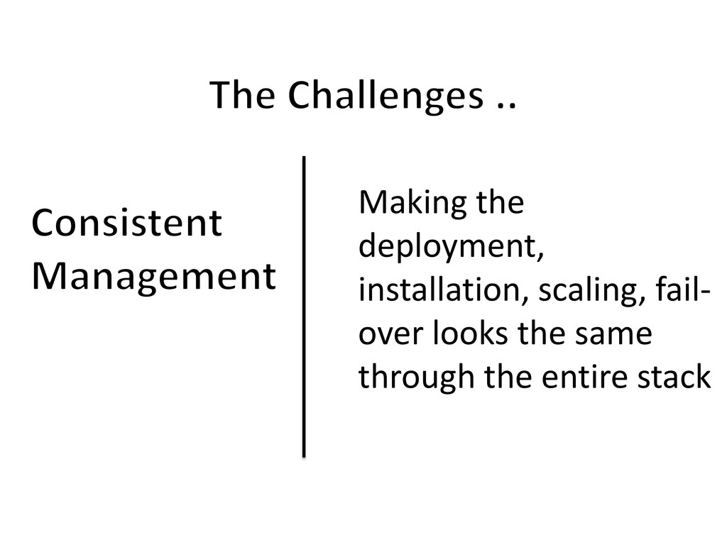 Making the deployment, installation, scaling, f...