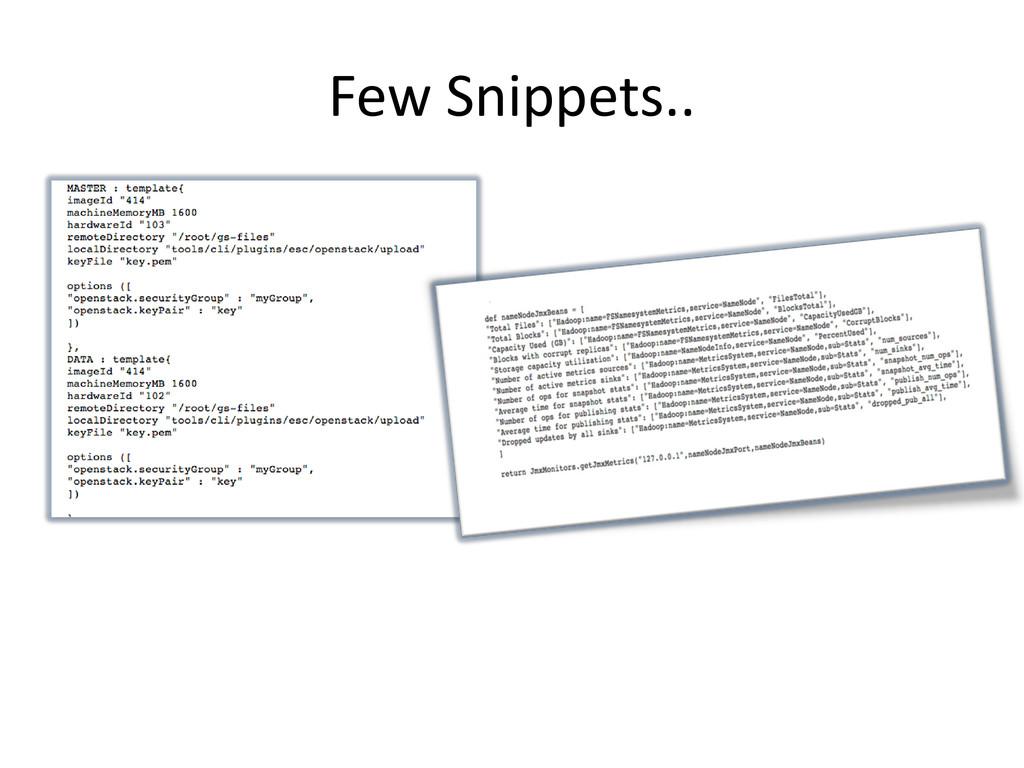 Few Snippets..