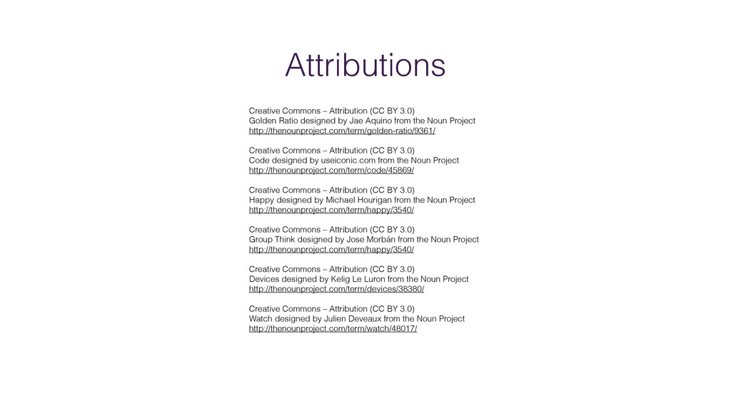 Attributions Creative Commons – Attribution (CC...