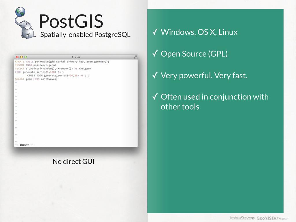 PostGIS Spatially-enabled PostgreSQL ✓ Windows,...