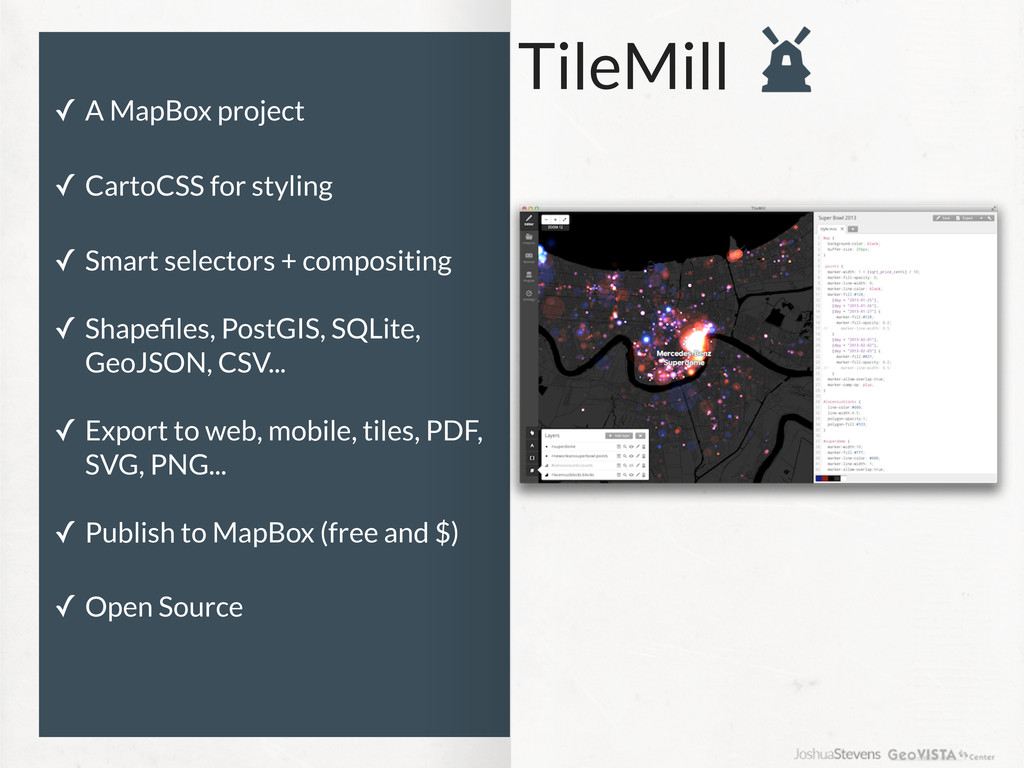 TileMill ✓ A MapBox project ✓ CartoCSS for styl...