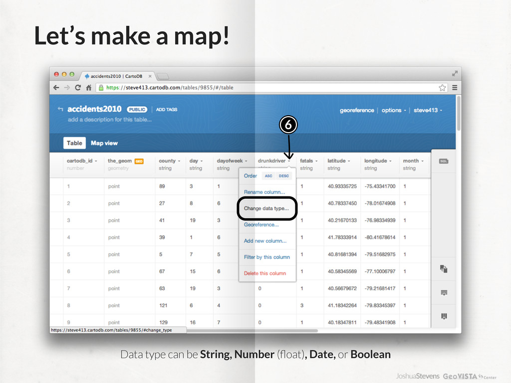 Let's make a map! 6 Data type can be String, Nu...