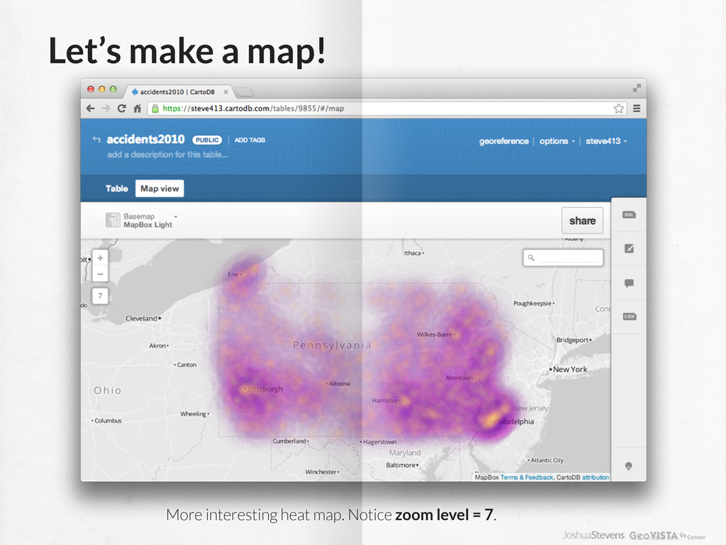 Let's make a map! More interesting heat map. No...