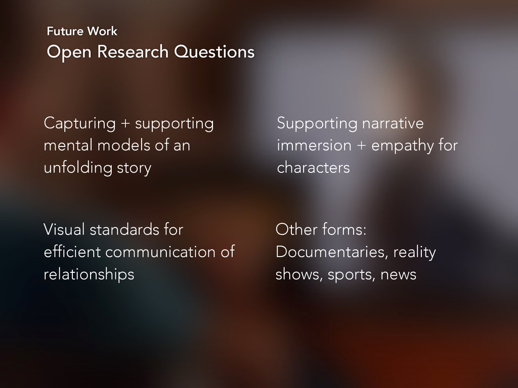 Future Work Open Research Questions Capturing +...