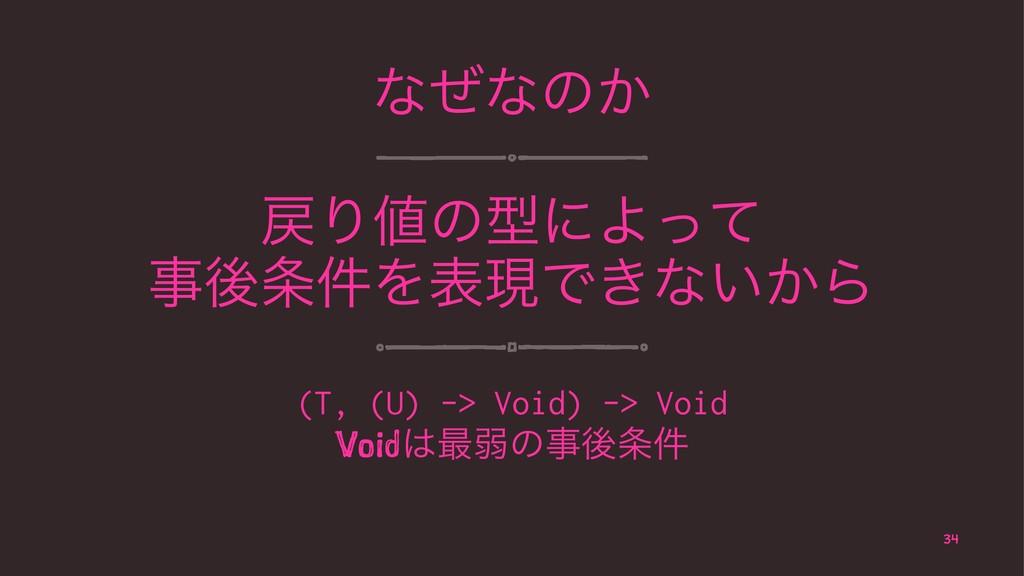 ͳͥͳͷ͔ ΓͷܕʹΑͬͯ ޙ݅ΛදݱͰ͖ͳ͍͔Β (T, (U) -> Void) ...
