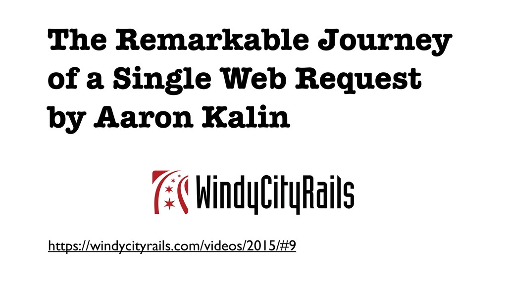 The Remarkable Journey of a Single Web Request ...