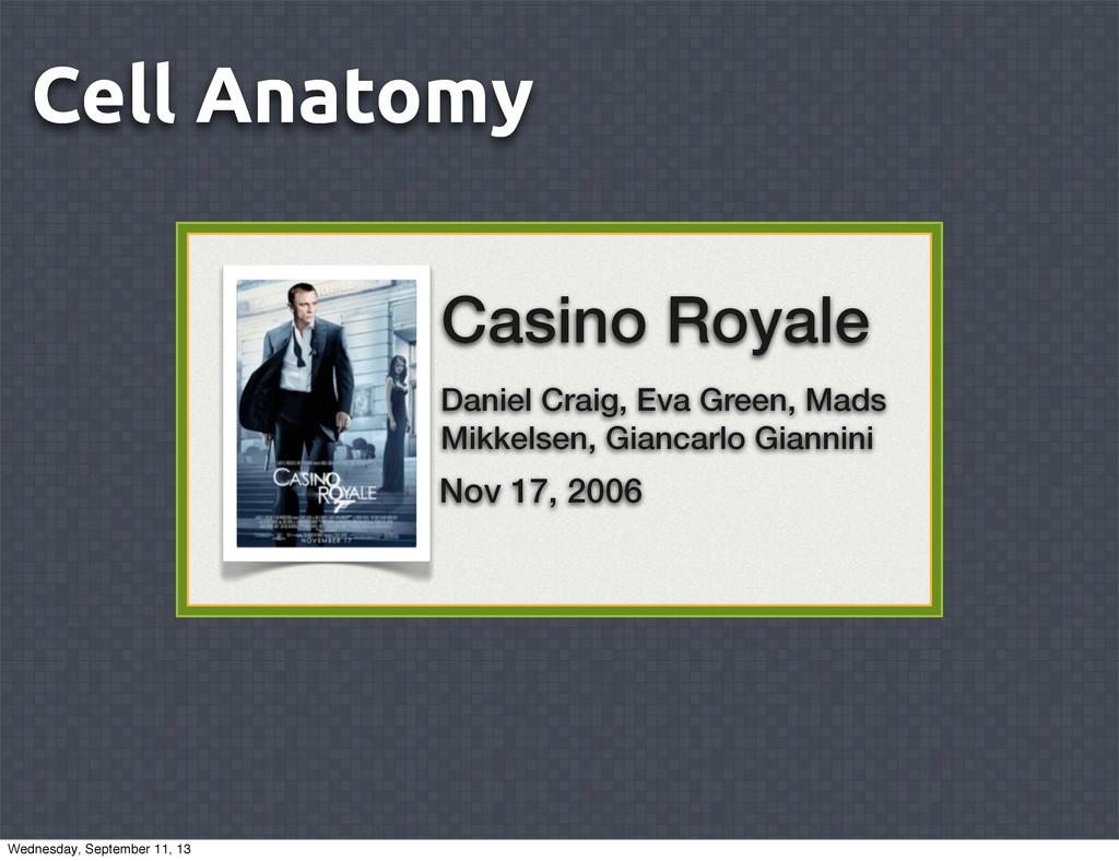 Cell Anatomy view Casino Royale Daniel Craig, E...