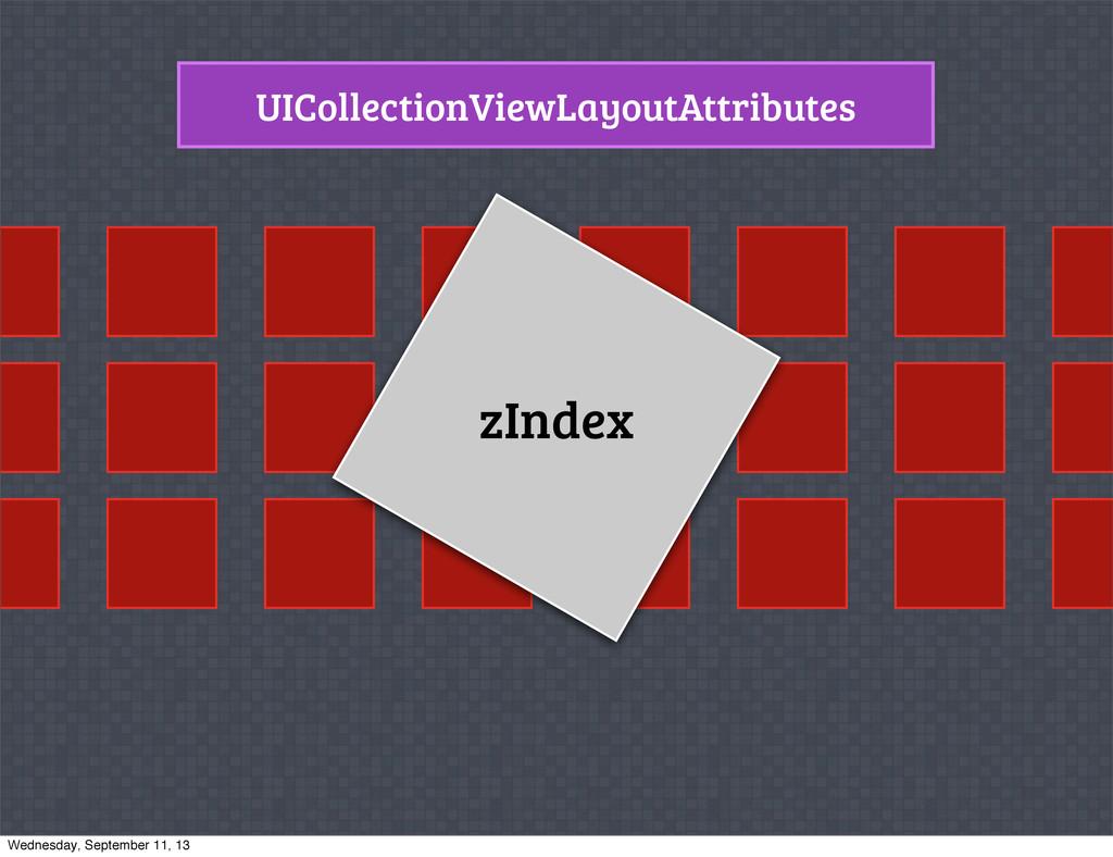 UICollectionViewLayoutAttributes zIndex Wednesd...