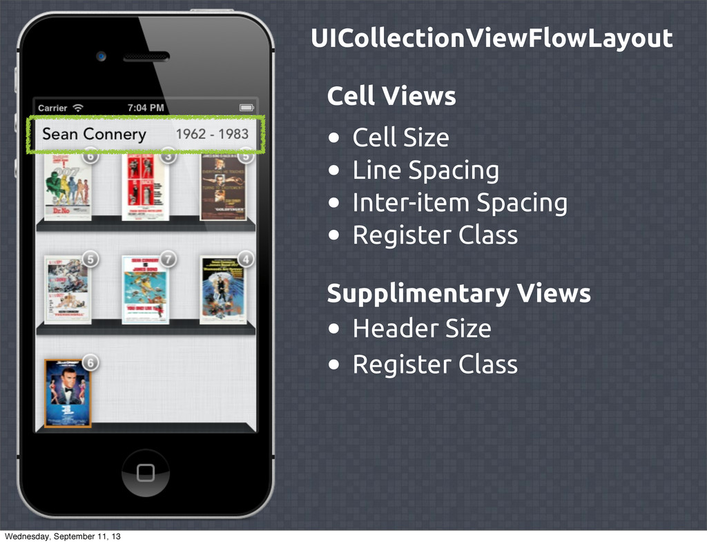 UICollectionViewFlowLayout Cell Views • Cell Si...