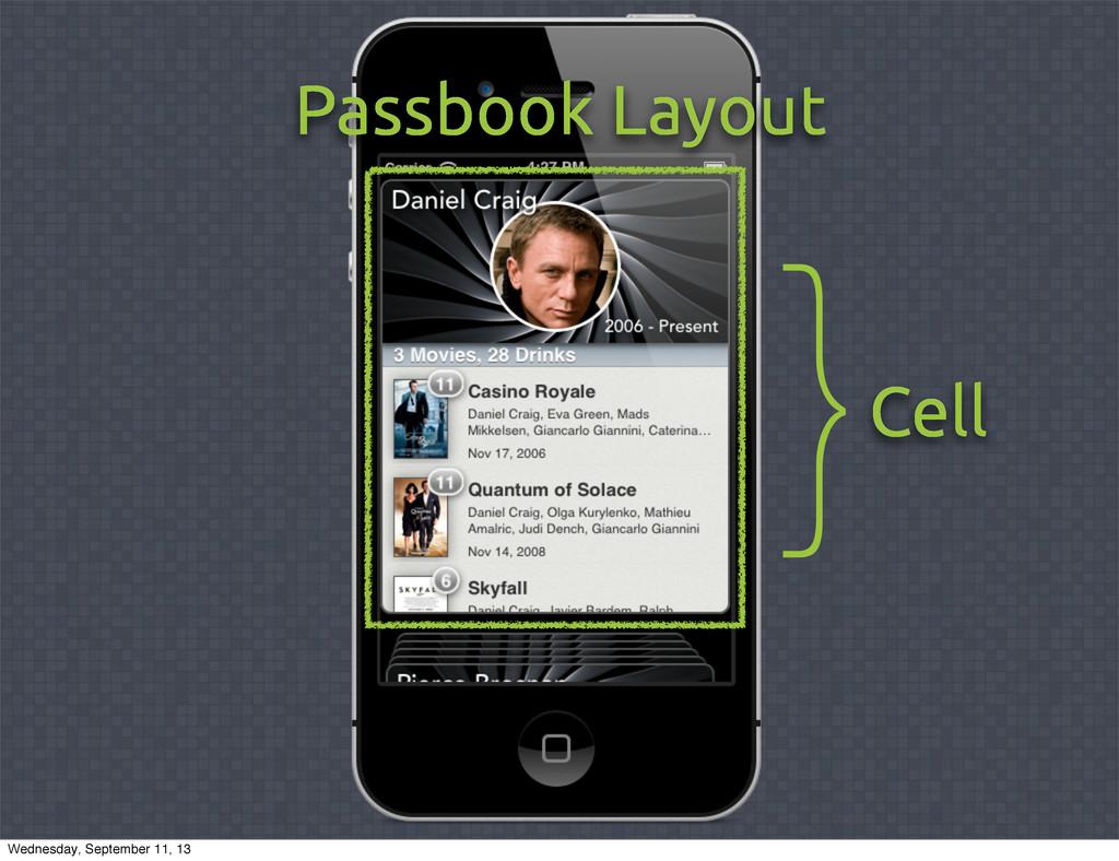 Passbook Layout Cell } Wednesday, September 11,...