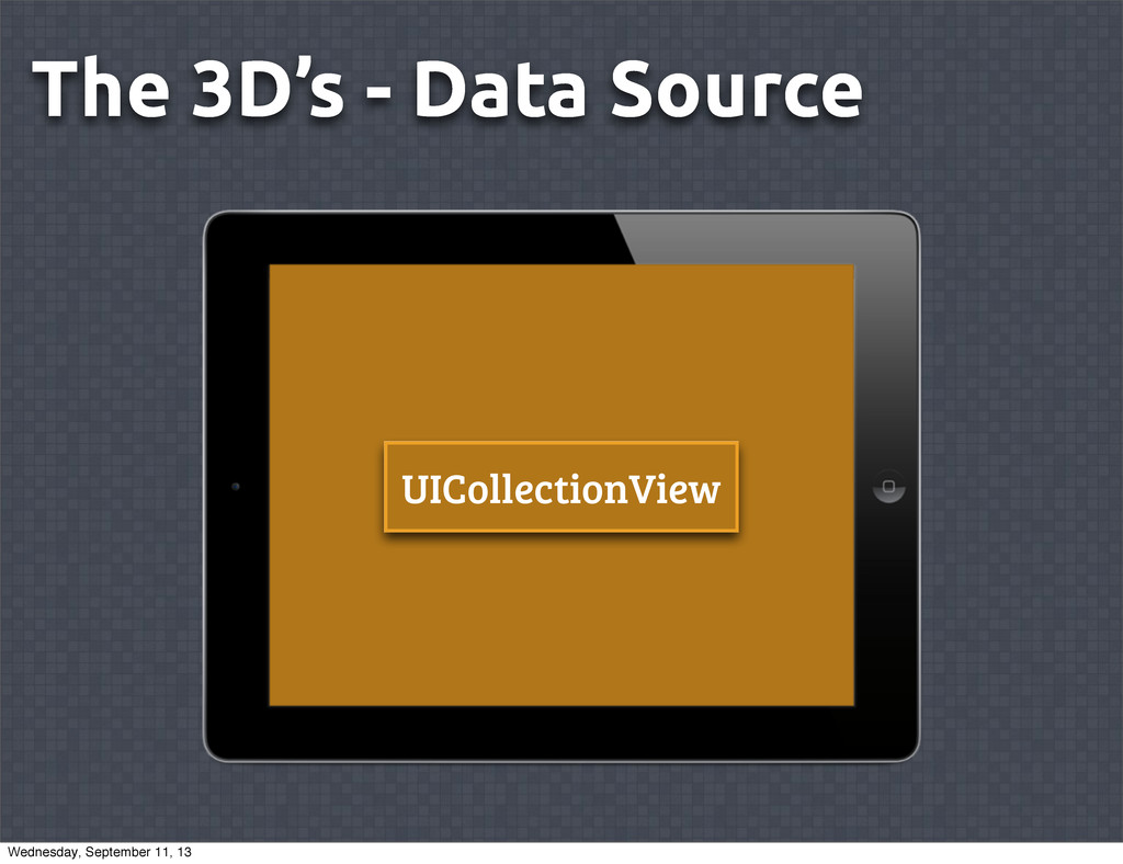 The 3D's - Data Source UICollectionView Wednesd...