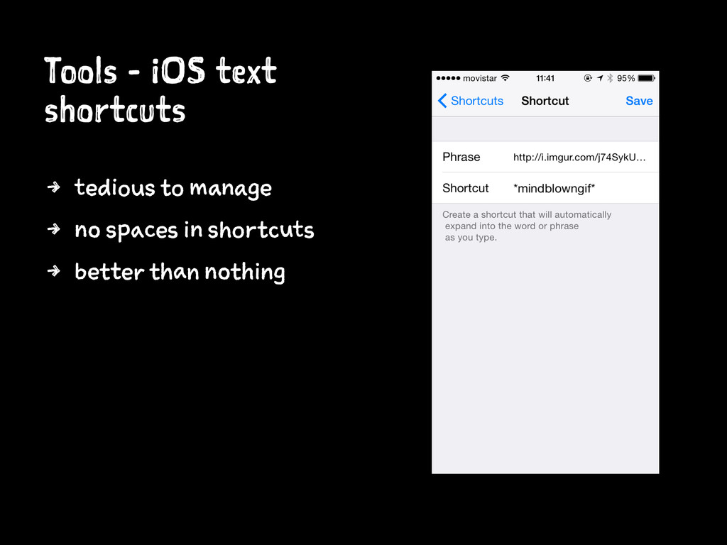 Tools - iOS text shortcuts 4 tedious to manage ...