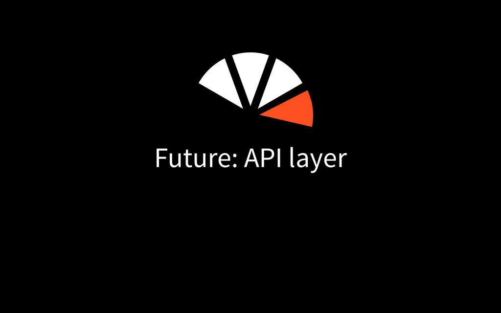 Future: API layer