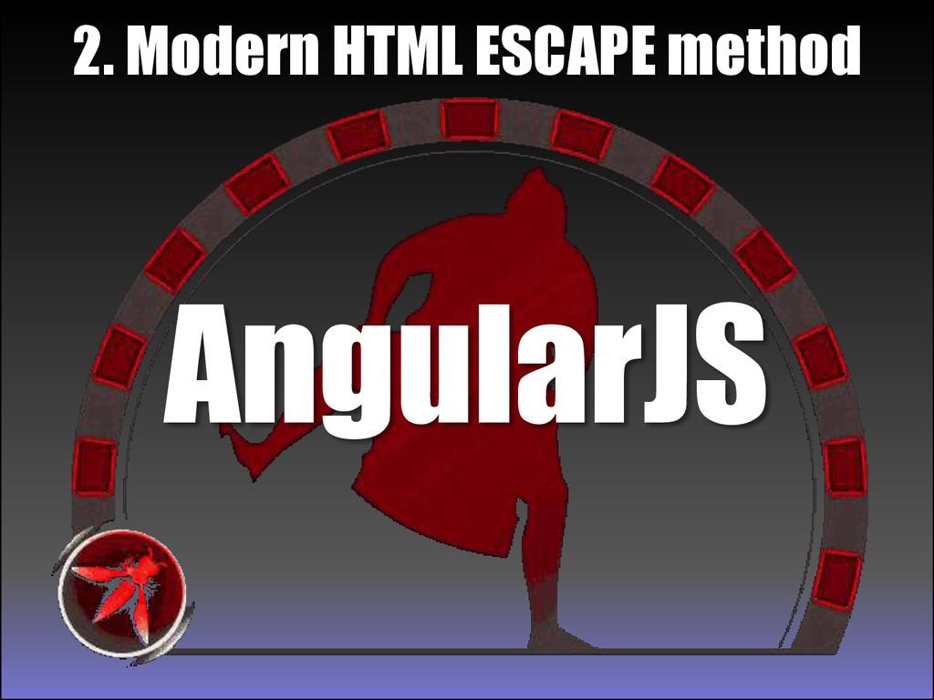 AngularJS 2. Modern HTML ESCAPE method