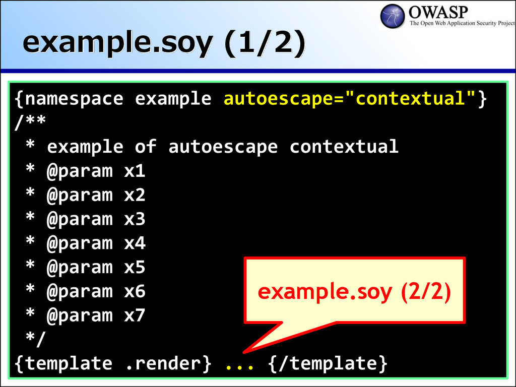 example.soy (1/2) {namespace example autoescape...