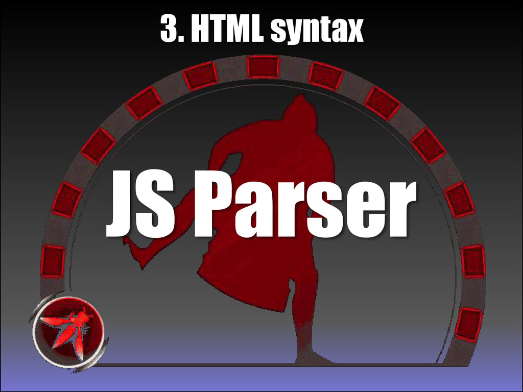 JS Parser 3. HTML syntax