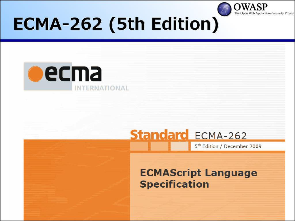 ECMA-262 (5th Edition)