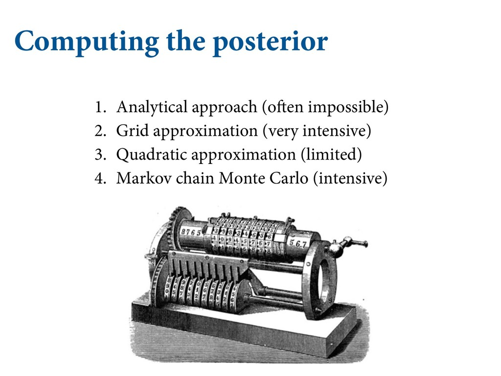 Computing the posterior 1. Analytical approach ...