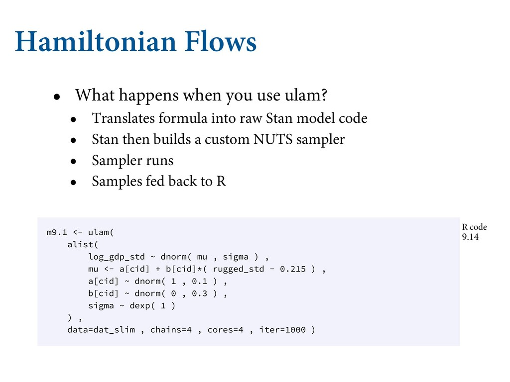 Hamiltonian Flows • What happens when you use u...