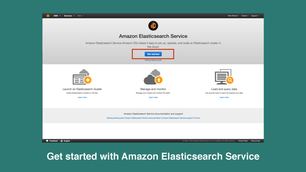 Get started with Amazon Elasticsearch Service