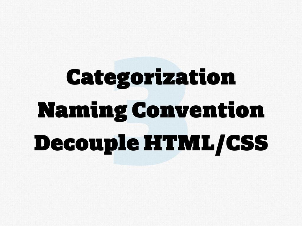 3 Categorization Naming Convention Decouple HTM...