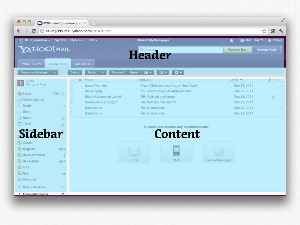 Sidebar Content Header