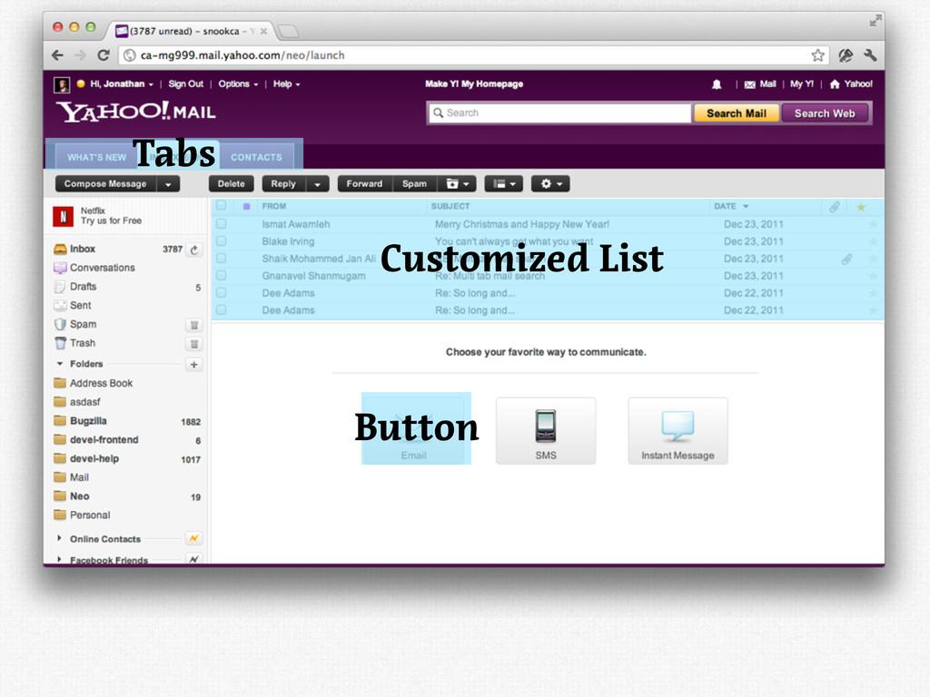 Customized List Button Tabs