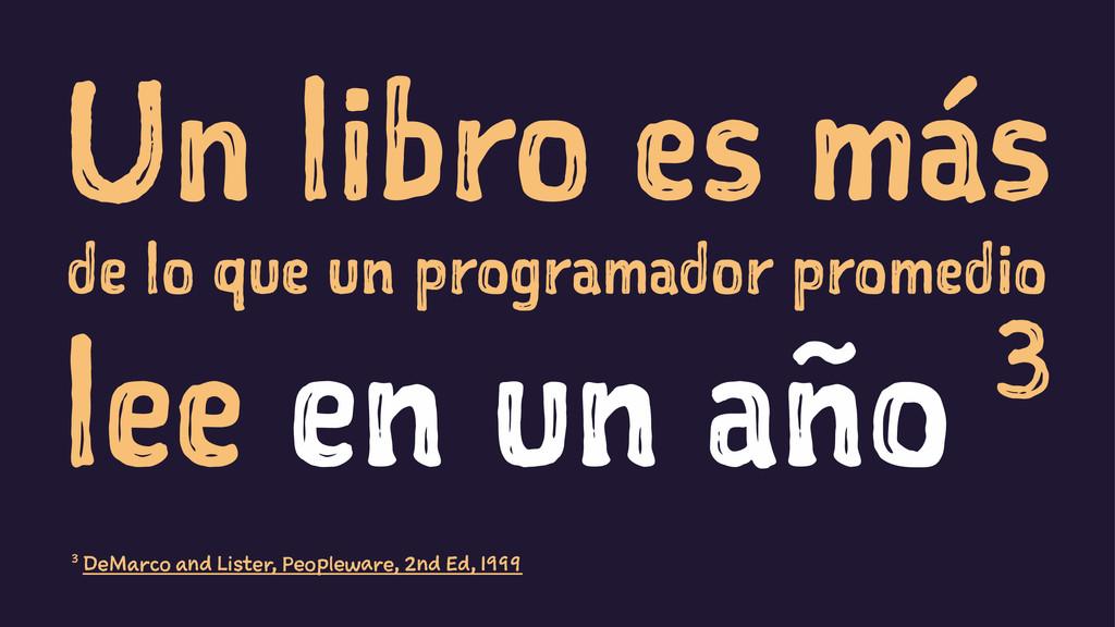 Un libro es más de lo que un programador promed...