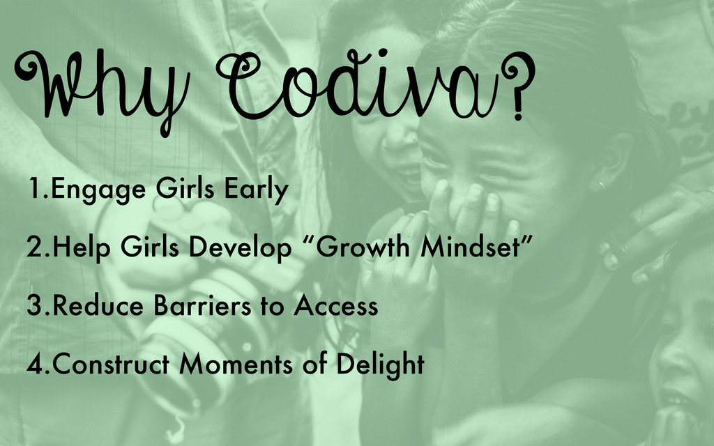 Why Codiva? 1.Engage Girls Early 2.Help Girls D...