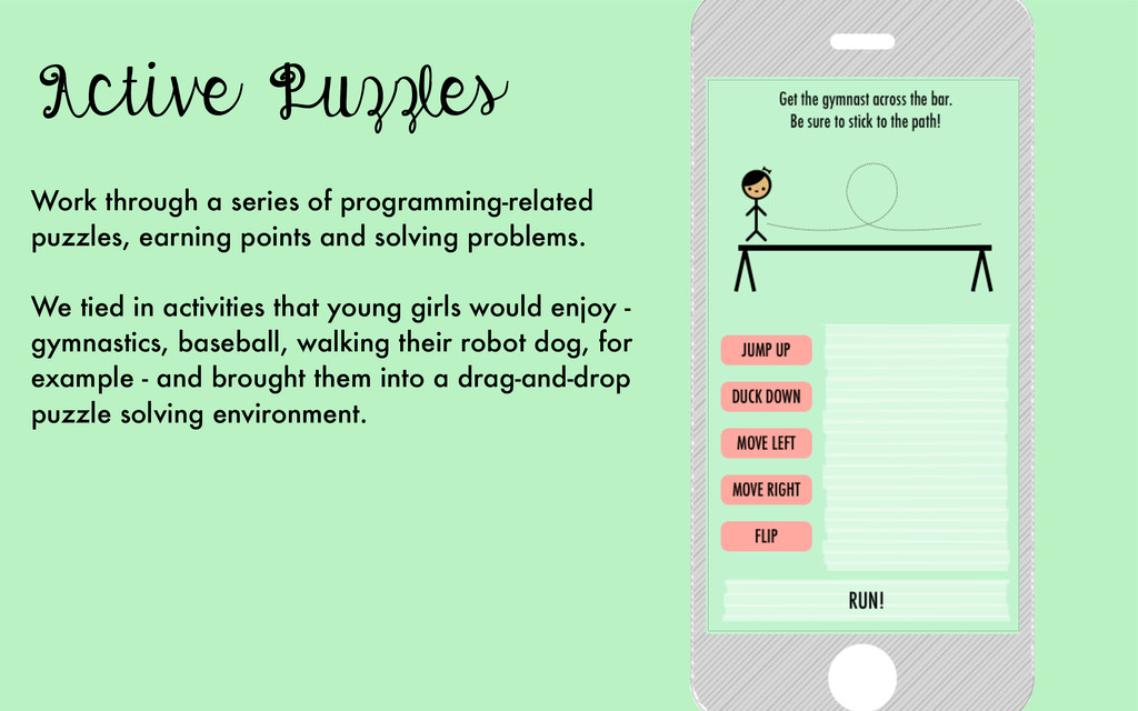 Active Puzzles Work through a series of program...