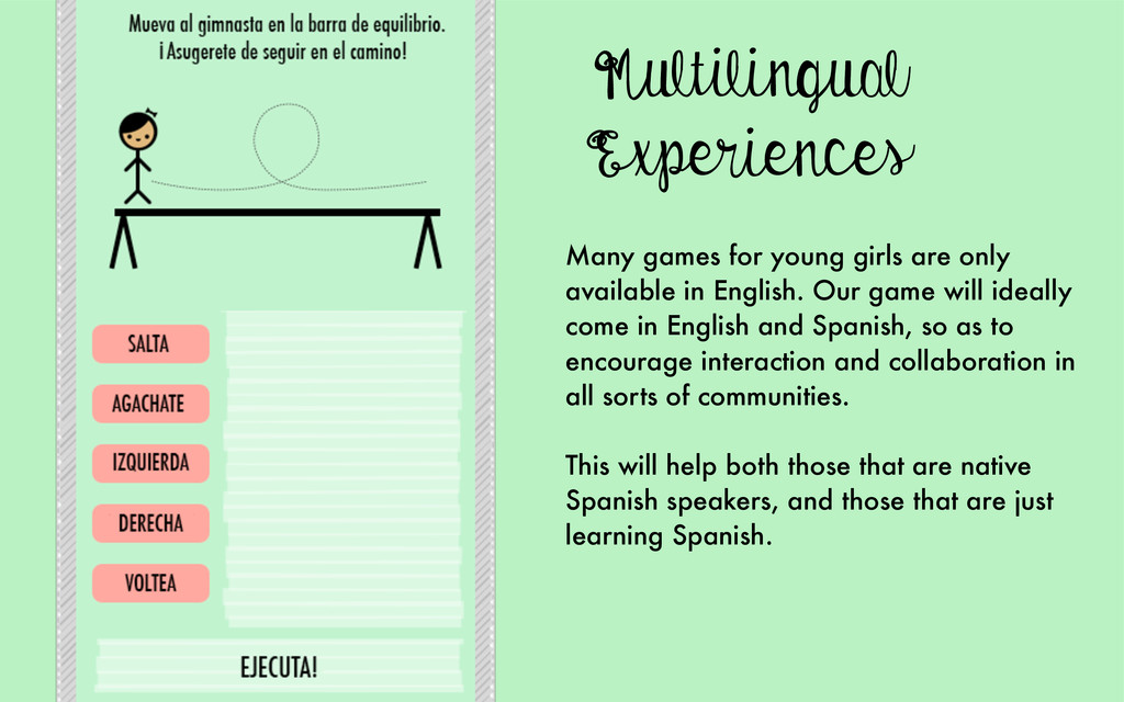 Multilingual Experiences Many games for young g...