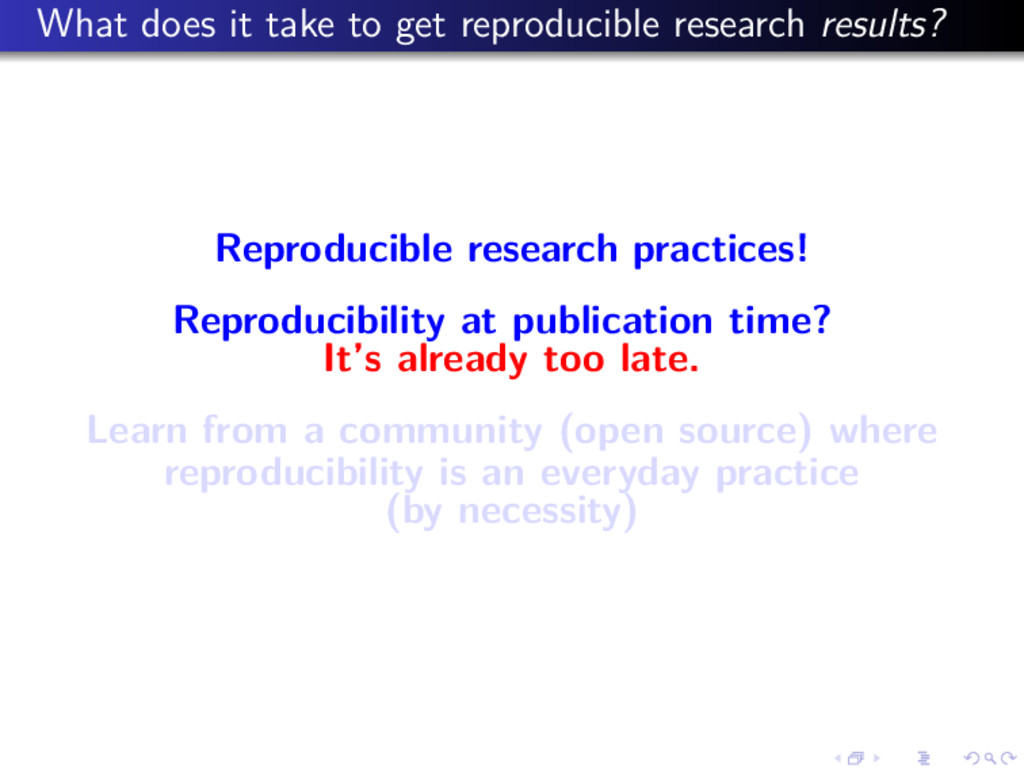 What does it take to get reproducible research ...