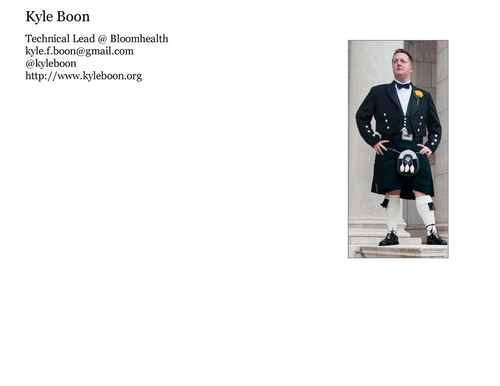 Technical Lead @ Bloomhealth kyle.f.boon@gmail....