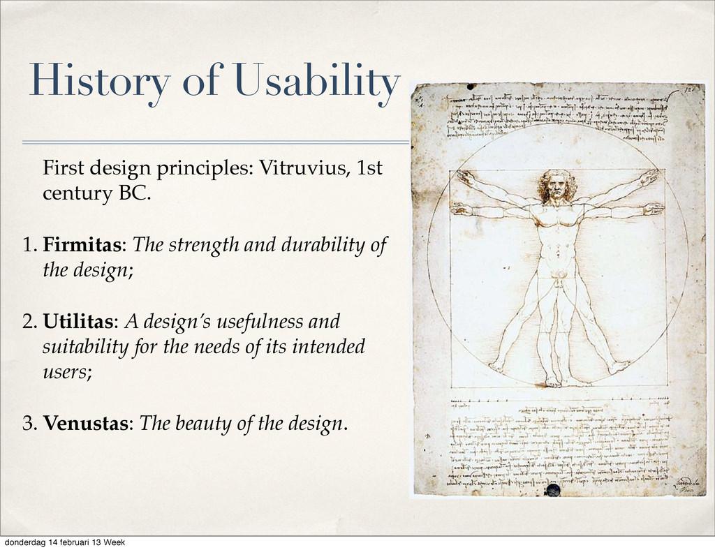 History of Usability First design principles: V...