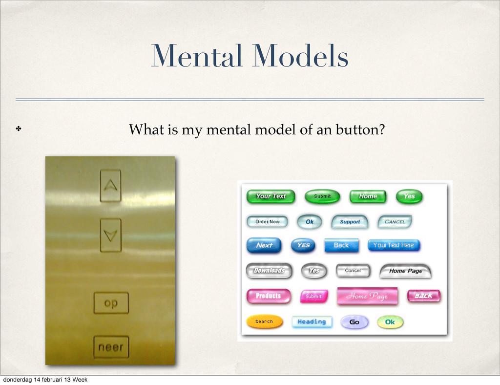 Mental Models ✤ What is my mental model of an b...