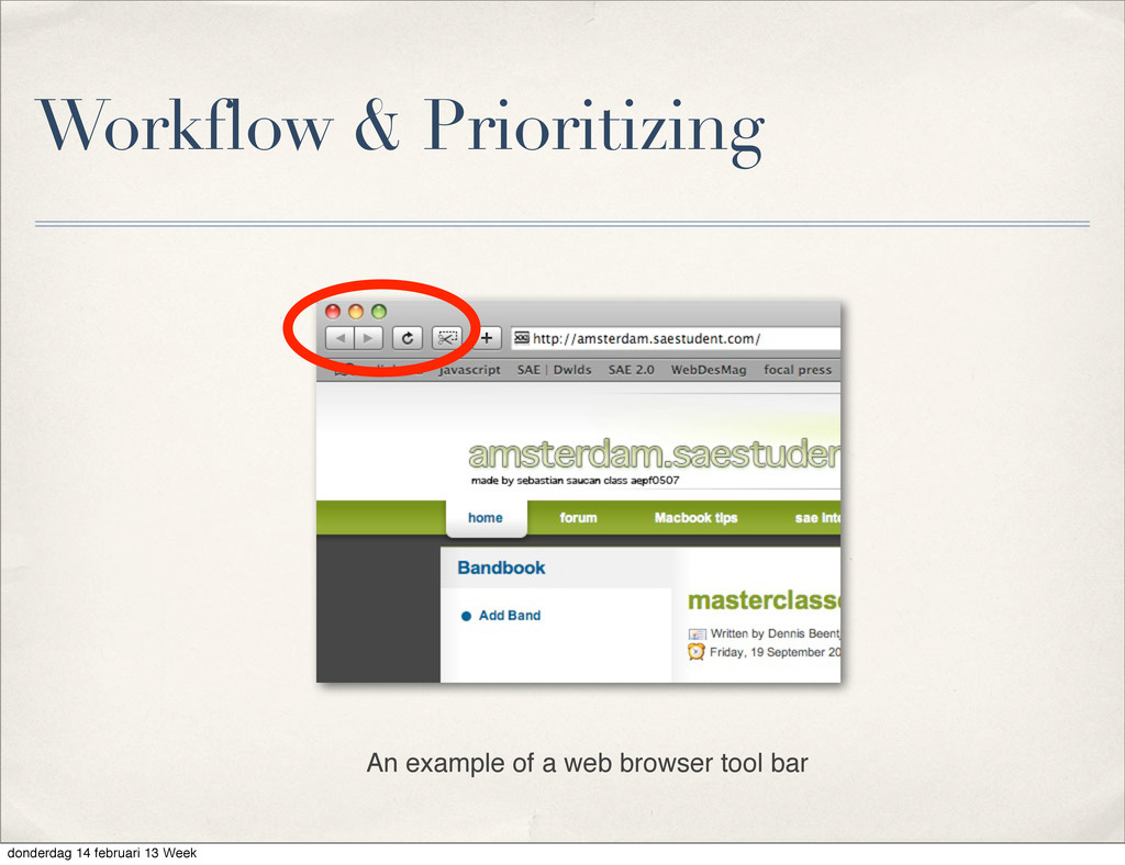Workflow & Prioritizing An example of a web bro...