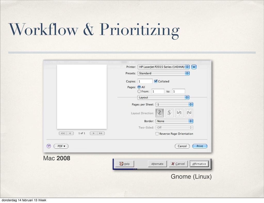 Workflow & Prioritizing Gnome (Linux) Mac 2008 ...