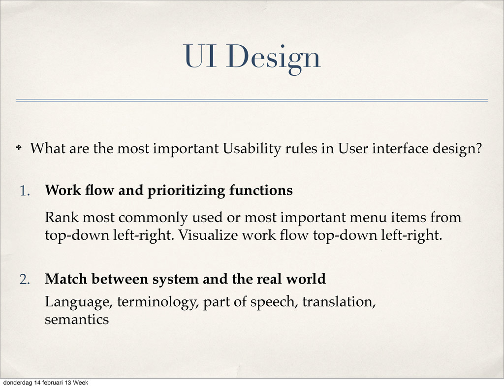UI Design ✤ What are the most important Usabili...