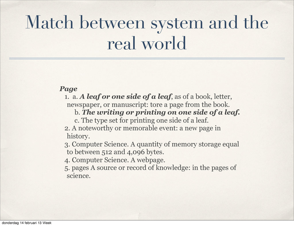 Match between system and the real world Page 1....