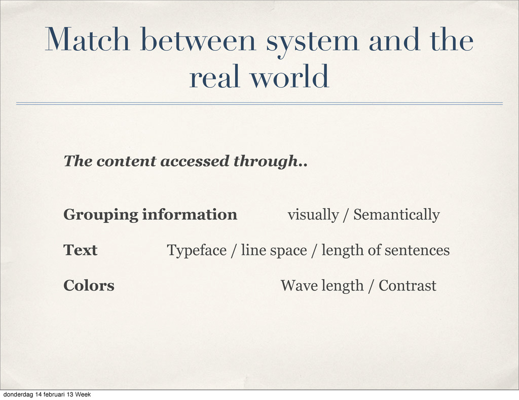 The content accessed through.. Grouping informa...
