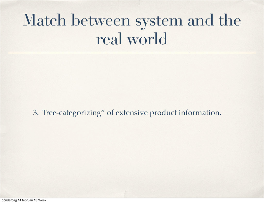 """Tree-categorizing"""" of extensive product informa..."""